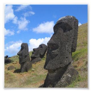 Moai at Rano Raraku, Easter Island Photograph