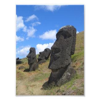 Moai on Easter Island Photo Art