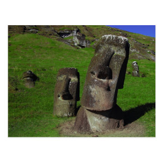 Moai on Easter Island (Rapa Nui) Postcard