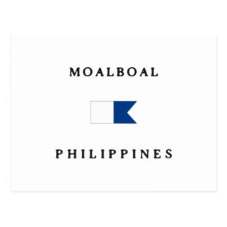 Moalboal Philippines Alpha Dive Flag Postcards