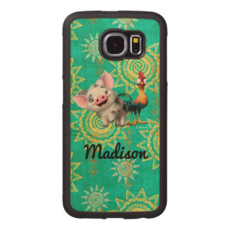 Moana   First Mate & Top Rooster Wood Phone Case