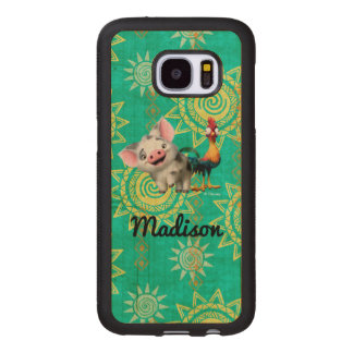 Moana   First Mate & Top Rooster Wood Samsung Galaxy S7 Case