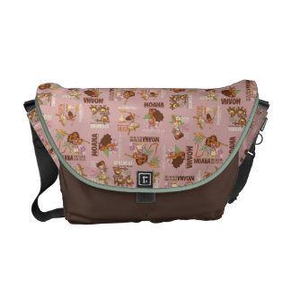 Moana & Kakamora Vintage Pattern Courier Bag