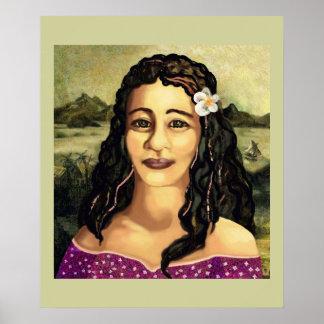 Moana Lisa detail Poster