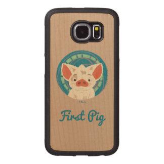 Moana   Pua The Pig Wood Phone Case