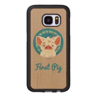 Moana   Pua The Pig Wood Samsung Galaxy S7 Case