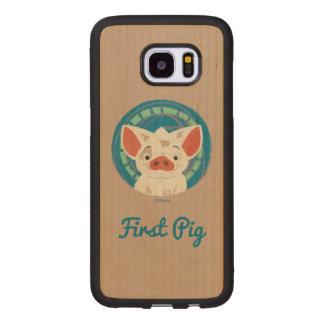 Moana   Pua The Pig Wood Samsung Galaxy S7 Edge Case