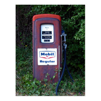 Mobil Gas Pump Postcard