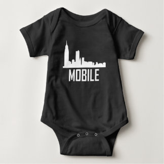 Mobile Alabama City Skyline Baby Bodysuit