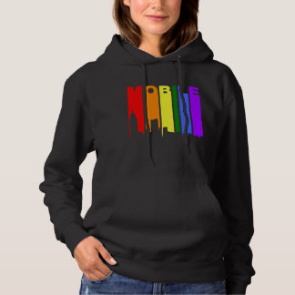 Mobile Alabama Gay Pride Rainbow Skyline Hoodie