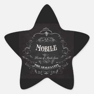 Mobile, Alabama - Home of the Mardi Gras Star Sticker