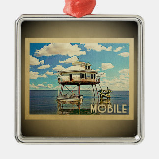 Mobile Alabama Vintage Travel Ornament