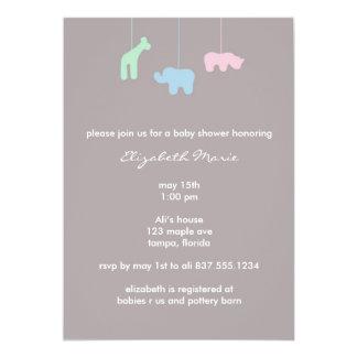 Mobile Baby Shower Invitation