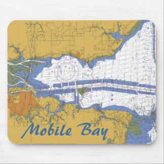 Mobile Bay Abalama Nautical chart Mouse Pad