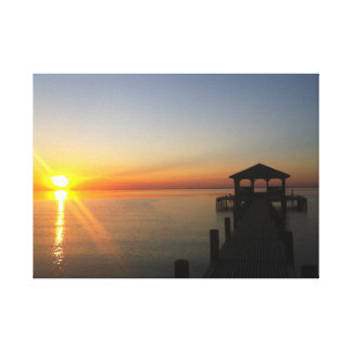 Mobile Bay Sunset - No Filter Canvas Print