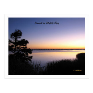 Mobile Bay Sunset Postcard