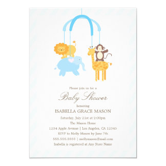 Mobile | Boy 13 Cm X 18 Cm Invitation Card