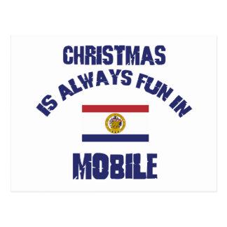 mobile CHRISTMAS DESIGNS Post Card