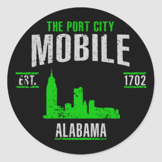 Mobile Classic Round Sticker