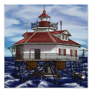Mobile Middle Bay lighthouse Poster