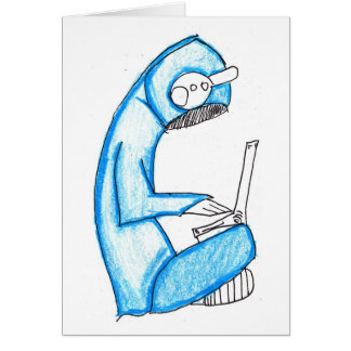 Mobile Music Producer - Blue Greeting Card