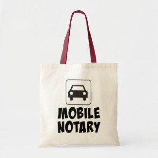 Mobile Notary Public Car Sign Tote Bag