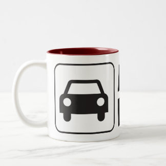 Mobile Notary Public Car Sign Two-Tone Coffee Mug