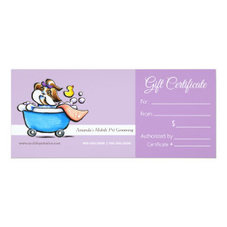 Mobile Pet Groomer Shih Tzu Purp Gift Certificate Card