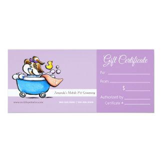 Mobile Pet Groomer Shih Tzu Purp Gift Certificate Announcements
