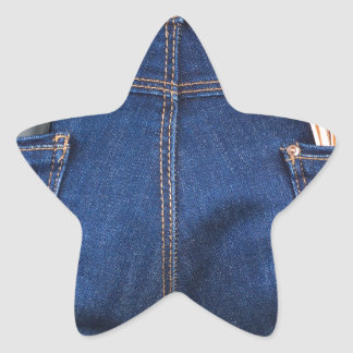 Mobile phone and euro money in blue jeans star sticker