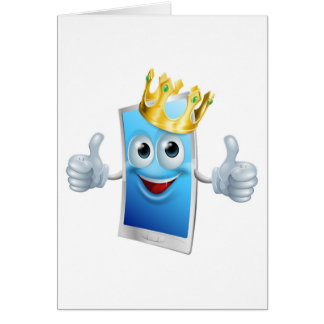 Mobile phone cartoon king greeting cards