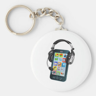 Mobile phone chat concept key chain