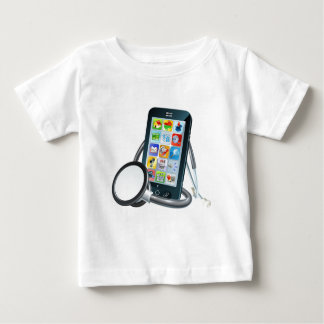 Mobile Phone Health Concept Baby T-Shirt