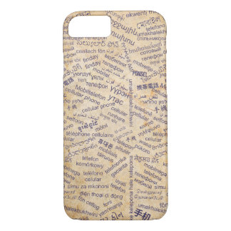 Mobile phone in the Different Languages iPhone 7 iPhone 7 Case