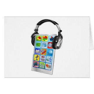 Mobile phone music headphones cards