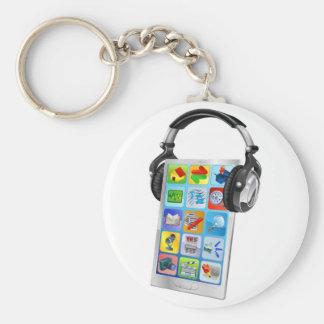 Mobile phone music headphones key chains