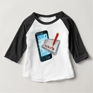 Mobile Phone Online Survey Clipboard Baby T-Shirt