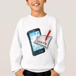 Mobile Phone Online Survey Clipboard Sweatshirt