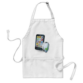 Mobile phone security concept apron