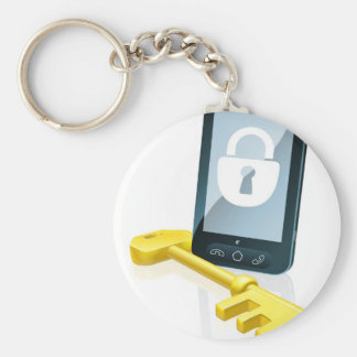 Mobile phone security concept keychains