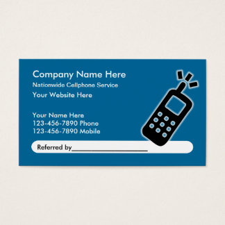 Mobile Phone Service Referral Business Cards