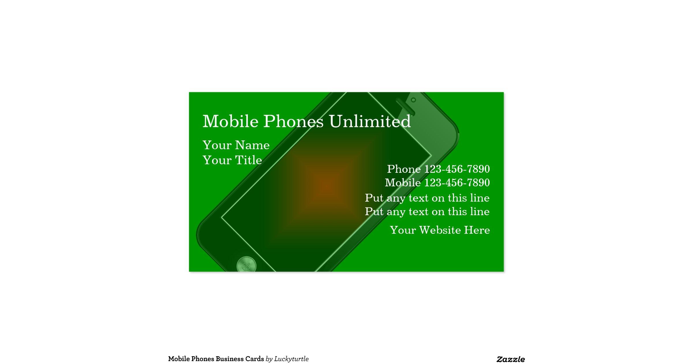 mobile phones business cards zazzle. Black Bedroom Furniture Sets. Home Design Ideas