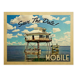 Mobile Save The Date Alabama Postcard
