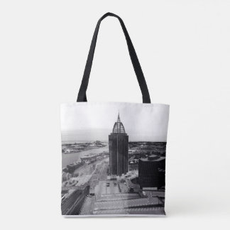Mobile Skyline Tote Bag
