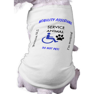 Mobility Assistance Dog - I'm Working! Sleeveless Dog Shirt