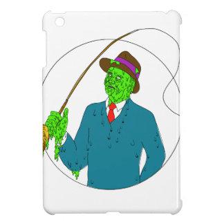 Mobster Fisherman Fly Rod Reel Grime Art iPad Mini Case