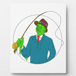 Mobster Fisherman Fly Rod Reel Grime Art Plaque