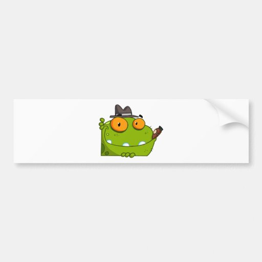 Mobster Frog Cartoon Character Bumper Stickers