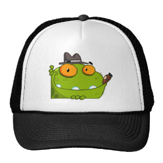 Mobster Frog Cartoon Character Hats