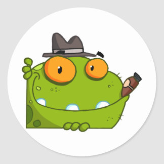 Mobster Frog Cartoon Character Stickers